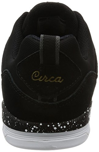 C1rca Neen Leder Skateschuh Black/White/Gum