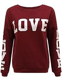 Mix lot Womens Ladies Love Print Tracksuit Gym Jogging Casual Bottoms Sweatshirt Top Size 8-10/12-14