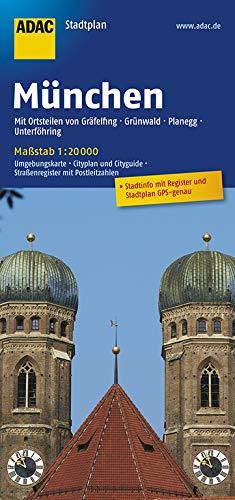 ADAC StadtPlan München mit Gräfelfing, Grünwald, Planegg, Unterföhring 1:20 000 (ADAC Stadtpläne)
