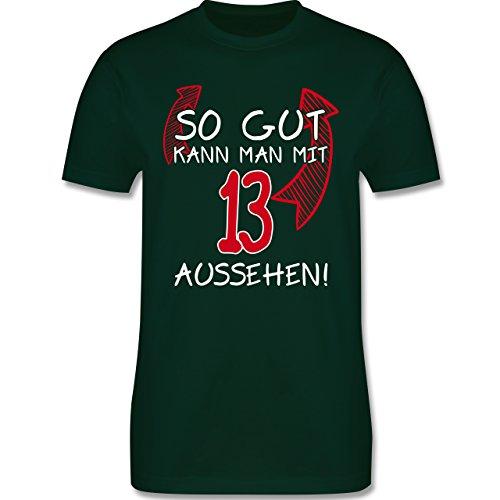 Geburtstag - So gut kann man mit 13 aussehen - Herren Premium T-Shirt Dunkelgrün
