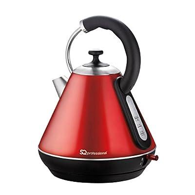 Bouilloire électrique sans fil, ébullition rapide, 2200W 1.8L - Rouge Rubis