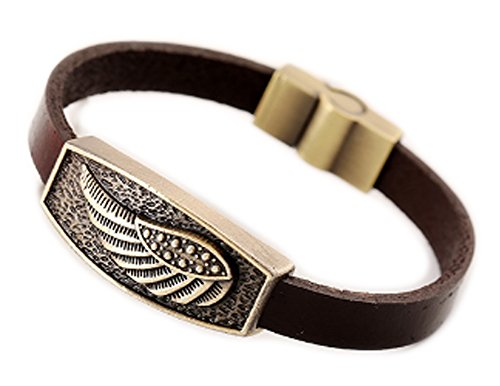 saysure-metal-leather-id-bracelet-dual-skull-feather
