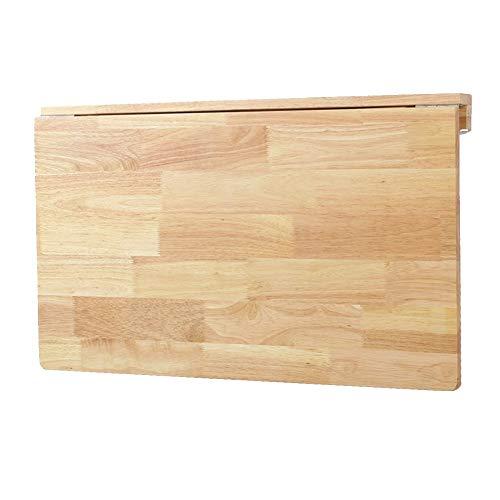 PENGFEI Wandtisch Klappbar Wandklapptisch Schreibtische Wand-Computertisch Faltbarer Couchtisch Küchentablett Schlafzimmer Schreibtisch, Platz Sparen, Eiche, 3 Größen -