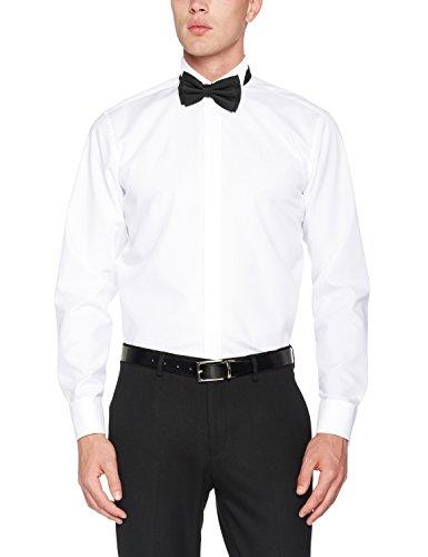 Seidensticker - Camicia da cerimonia Classico, Uomo Bianco (Weiß (01 weiß))