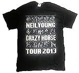 Neil Young - Foto Steifen Tour 2013 - Offizielles Herren T-Shirt - Schwarz, X-Large