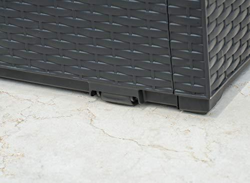 Keter Auflagenbox Capri, grau, 302 L, 223cm - 7
