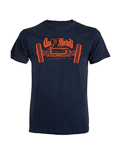 Gas Monkey Garage T-Shirt Axle Blue Blau