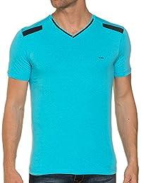 BLZ jeans - Tee shirt homme Bleu ciel col v
