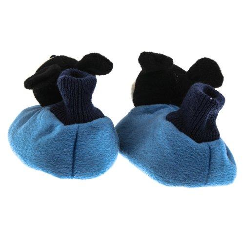 SAMs Disney Kinder Plüsch Hausschuhe Mickey Mouse kuschelig weich Plüsch rutschfeste Sohle, TH-MM Blau