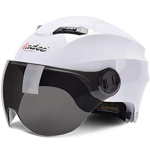 Elektrische Motorradhelm Männliche Batterie Auto Damen Sommer Jahreszeiten Leichte Halb bedeckt Helm Sonnencreme Persönlichkeit (Farbe : AH)