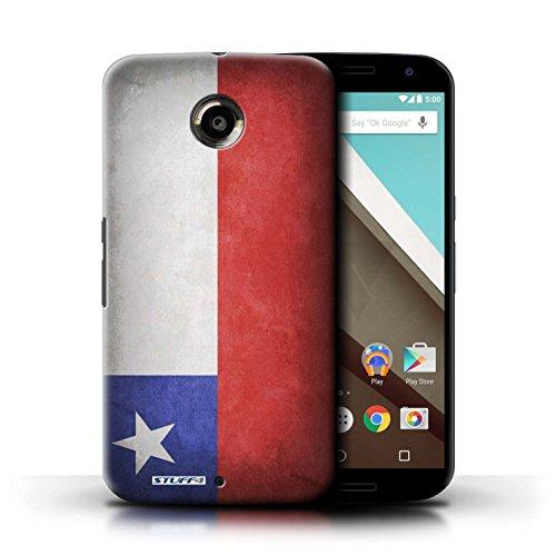 Kobalt® Imprimé Etui / Coque pour Motorola Nexus 6 / Pays de Galles/gallois conception / Série Drapeau Chili/Chiliean