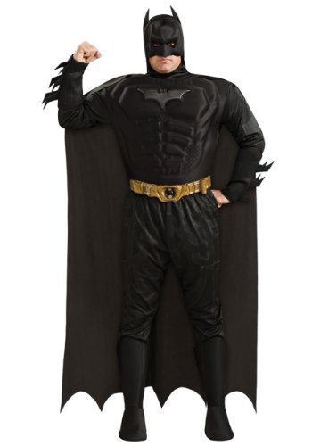 Kostüm Deluxe Dark Batman Knight Adult - Rubie s Costume Co 32975 Batman Dark Knight Deluxe Muscle Chest Batman Adult Plus-Plus-Kost-m Gr--e 44-50