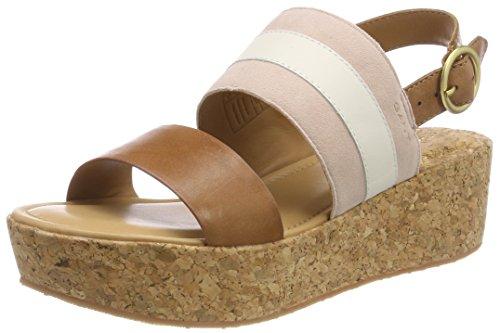 GANT Footwear Damen Judith Plateausandalen, Mehrfarbig (Silver Pink/Cream/Tan), 41 EU