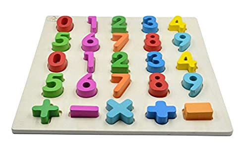 YouΞ Wooden Chunky Number Puzzle