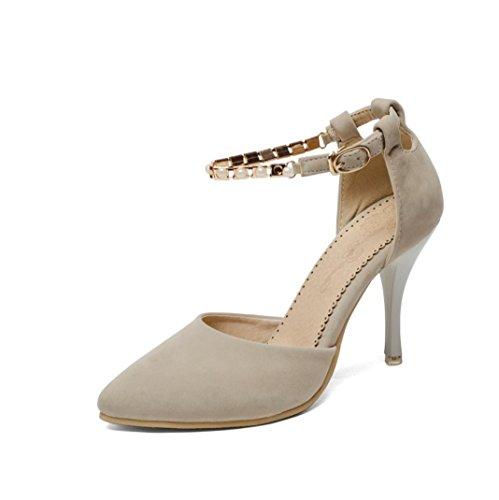 Da donna-Tacchi-Formale Casual Serata e festaA stiletto-Finta pelle-Nero Blu Rosa Beige beige