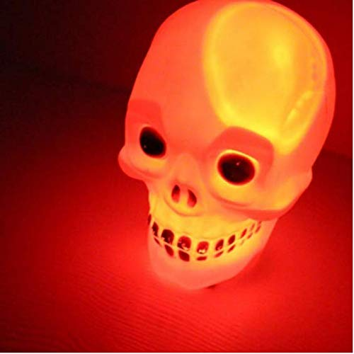 Schädel LED Halloween Beleuchtung Flash Light Scary Night Light Schlafzimmerlampe Multicolor