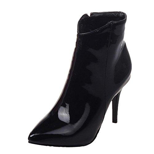 MissSaSa Donna Scarpe col Tacco Alto Elegante e Sexy Piede Stivali Nero