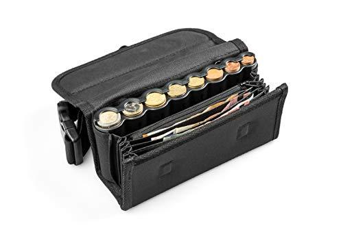 Cartera Camareros con dispensador para 8 Tipos de Monedas de Euro con Cremallera Interior