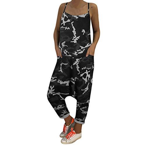 (SUCES Haremshosen Jumpsuits Damen Sommer Hosen Frauen Lässige Yoga Hosen Baggy Boho Aladdin Overall Pluderhosen Outdoor Casual Camouflage Schwangere Frau Freizeithosen)