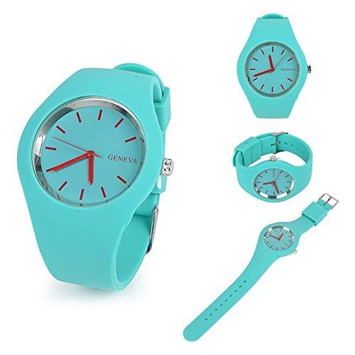 Swallowuk Damenmode Uhren, Silikongeleeuhr (Himmelblau)