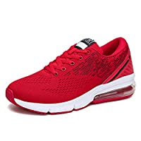 Voovix Mens Running Shoes Air Cushion Trail Fashion Sneakers Lightweight Tennis Sport Casual Walking Athletic for Men Outdoor red41