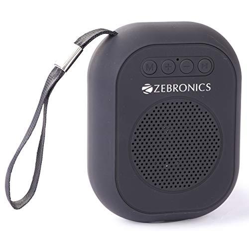 Zebronics Zeb-SAGA Ultra Portable BT Speaker with mSD, USB, AUX, FM & Mic (Black)