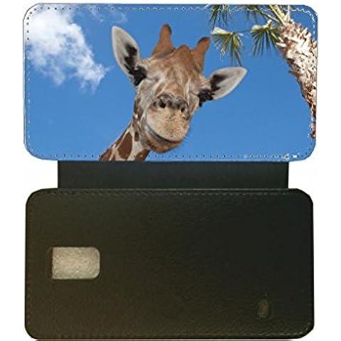 SAMSUNG S5 jirafa de piel sintética de color negro de la tapa #8