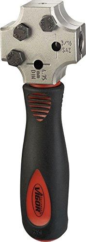 Vigor Bördelgerät für ∅ 4,75mm V4697 ∙ Anzahl Werkzeuge: 5