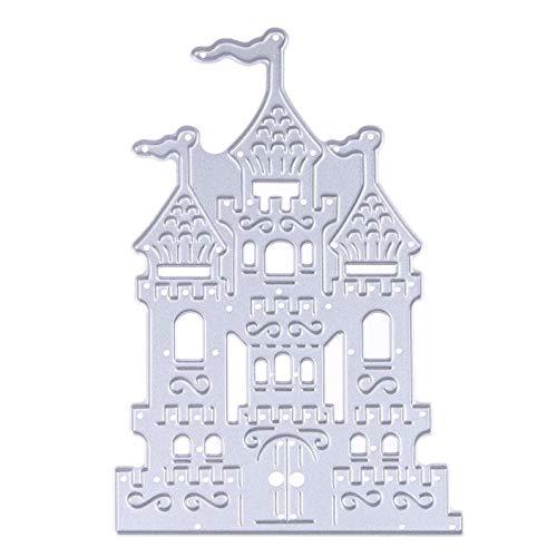 dfhdrtj preiswert Metall Stanzschablonen Schablonen Halloween Spinnennetz Prägung Stanzschablonen Set für Dekoration zu Hause Style14-castle