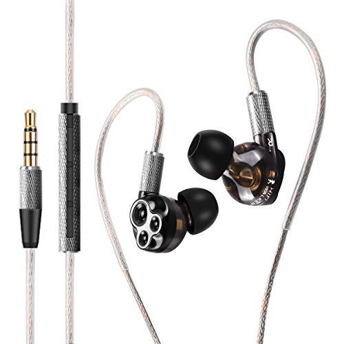 HiFi Walker A6 Triple Driver In-Ear Headphones Cuffie ad alta risoluzione, basso stereo e suono cristallino, microfono e controllo del volume remoto in linea, alta fedeltà per smartphone tablet PC