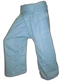 Panasiam® Fishermannhose: Lin, in metalblau, XL