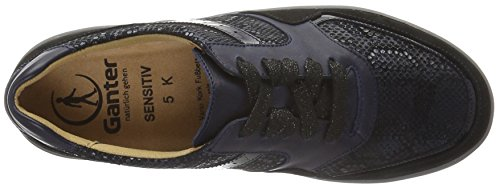 Ganter SENSITIV KLARA, Weite K, Baskets femme Bleu - Blau (ocean / schwarz 3001)