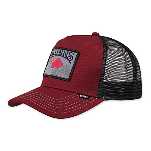 Djinns - Trek A Patch (Wine/Black) - Trucker Cap Meshcap Hat Kappe Mütze Caps