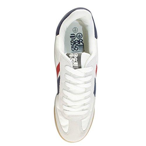 Baskets Pour Hommes Crosshatch Neuf Hambalt Lacet Piste De Course Tennis Baskets Blanc cassé - Off White