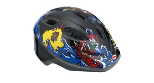 Bell Kinder Fahrradhelm SPLASH 10, Black/Blue Pirates, uni (46-50cm), 210034003 (Sports Kinder Fahrradhelm Bell)
