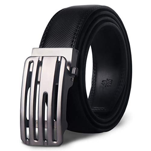 MR Belt Man Leather Leather Belts Automatic With Buckle Silver Ratchet