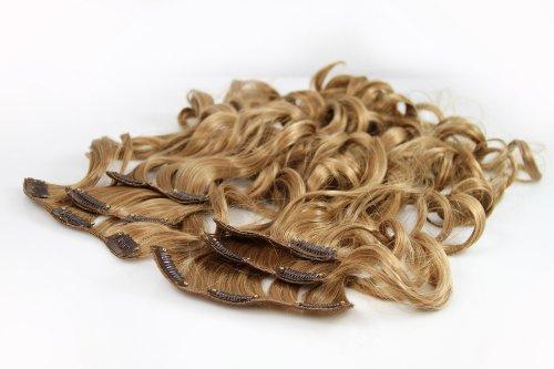 BiYa Hair Elements Thermatt Extensions cheveux bouclés à clips Châtain clair nuance 12 50,8 cm 140 g