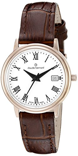 Claude Bernard Women's 54005 37R BR Classic Ladies Analog Display Swiss Quartz Brown Watch