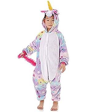 Niños Unisex Unicornio Animales Loungewear Pijamas Ropa de fiesta Ropa de dormir Disfraces Cosplay (Estrella,...