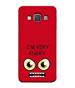 PrintVisa Designer Back Case Cover for Samsung Galaxy A5 (2015) :: Samsung Galaxy A5 Duos (2015) :: Samsung Galaxy A5 A500F A500Fu A500M A500Y A500Yz A500F1/A500K/A500S A500Fq A500F/Ds A500G/Ds A500H/Ds A500M/Ds A5000 (Big eyes Fear mouth)