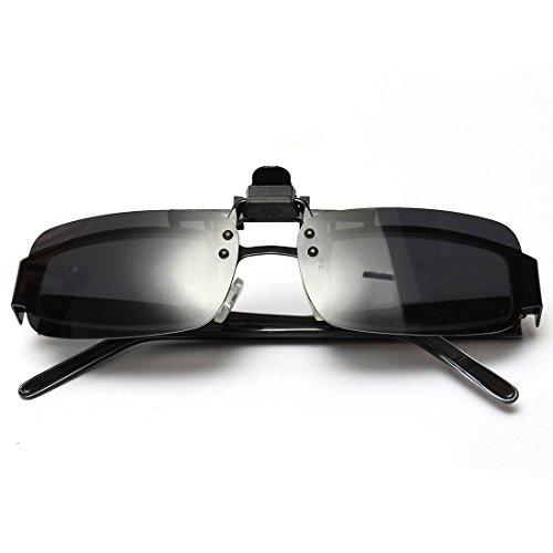 Sonnenbrillen Clip - TOOGOO(R) UV400 Sonnenbrillen Vorhaenger Brille Aufsatz Clip On Polarisiert L