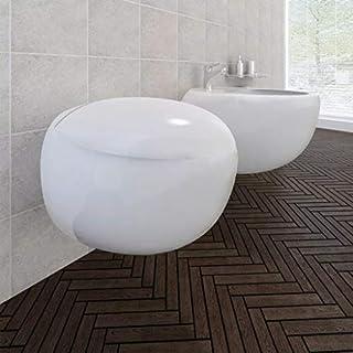 junhaofu Wand-Hänge WC Toilette +Hänge Bidet+ SoftClose Weiß Heimwerkerbedarf Küchen- und Sanitärinstallationen Sanitärkeramik & Armaturen Toiletten & Bidets
