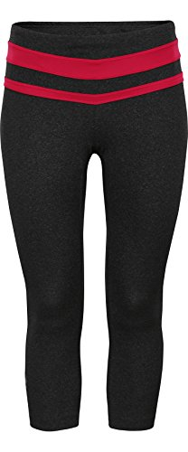 Zoot Damen Hose Liquid Core Crop, Black Heather/Punch, L, 2654229.1.2 (Sleeve Running Top Womens)