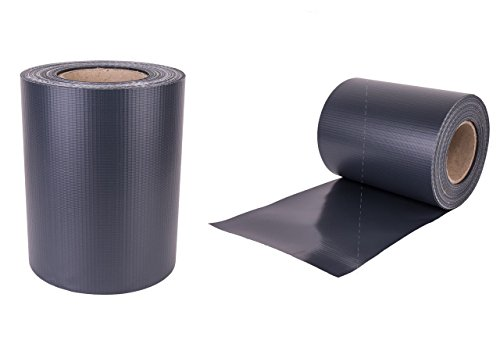 Enjoy-Quality Premium - 450 g/qm Sichtschutzstreifen, Anthrazit, Zaunfolie 35mx19cm - inklusive 22 Befestigungsclips - Windschutz/Doppelstabmattenzaun