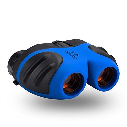 ger-Mädchen,JRD&BS WINL 8x21 Kompakte Fernglas für Kinder Spielzeug für 3-12 Jahre Alte Mädchen,spielzeug für 4-9 jährige jungs,Geschenke Für Kinder (Blau) ()