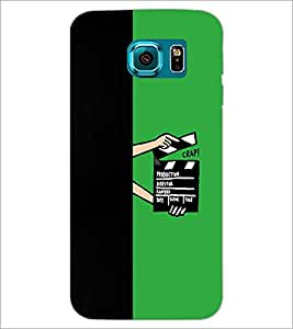 PrintDhaba Film D-4210 Back Case Cover for SAMSUNG GALAXY S6 EDGE (Multi-Coloured)