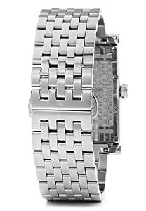 Cerruti CRB004A211C - Reloj analógico de caballero de cuarzo con correa de acero inoxidable plateada - sumergible a 30 metros de Cerruti