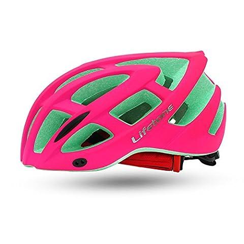 230g ultra léger - Eco-Friendly super léger intégralement casque de vélo, réglable léger Mountain Road casques de vélo pour hommes et femmes-confortable, léger, respirant ( Color : Rose red )