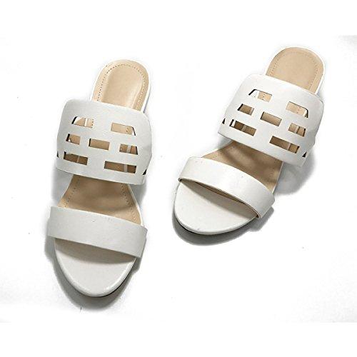 Sandali Signora Pantofole Scarpe Trampolieri Esterni White