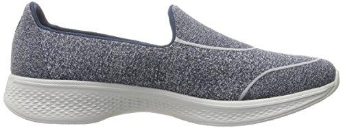 Skechers Gowalk 4-Super Sock 4, Scarpe da Ginnastica Basse Donna Blu (nvy)